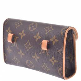 Louis Vuitton Brown Monogram Canvas Pochette Florentine Belt Bag 337712