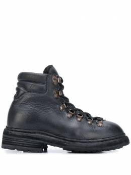 Guidi ботинки на шнуровке 19CALFFULLGRAINBLKT