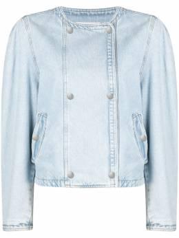 Isabel Marant Etoile двубортная джинсовая куртка без воротника VE152921P019E