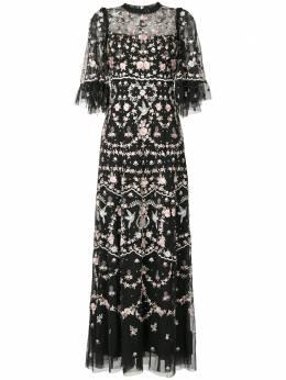 Needle & Thread вечернее платье с цветочной вышивкой DGTQ35RAW20