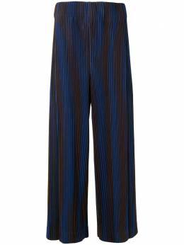 Homme Plisse Issey Miyake укороченные брюки Horogram в полоску HP08JF237