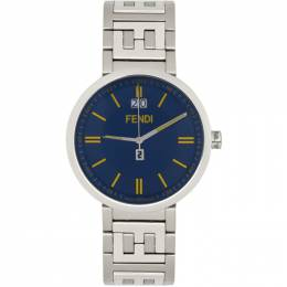 Fendi Silver and Blue Forever Fendi Watch F105010801