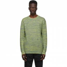 Dunhill Grey and Yellow Melange Sweater DU21RK1057P