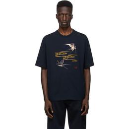 Dunhill Navy Spring Swallows T-Shirt DU21RL070BJ