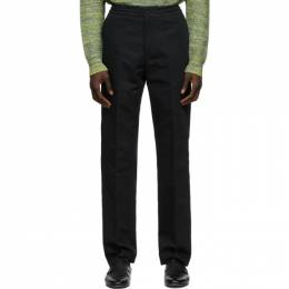 Dunhill Black Cotton and Linen Twill Trousers DU21RM374BH