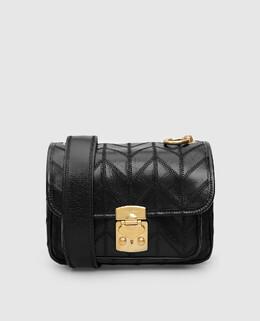 Черная кожаная сумка Miu Miu 2300006459368