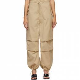 Dion Lee Tan Cotton Parachute Trousers A2209R21