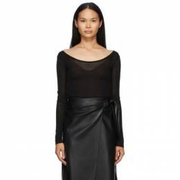 Nanushka Black Beth Long Sleeve T-Shirt NW20FWTP03799