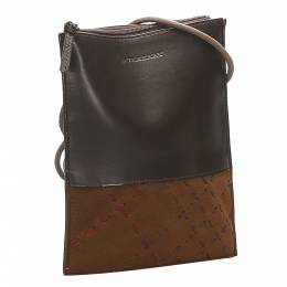Burberry Brown Leather Crossbody Bag 358883