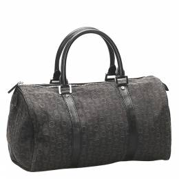 Celine Brown Coated Canvas C Macadam Bag 359279