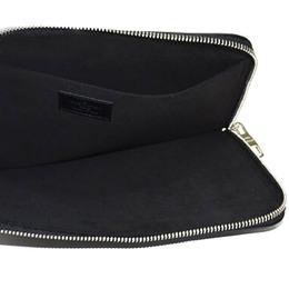 Louis Vuitton Black Leather Pochette Jules PM Clutch 360608
