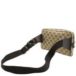 Gucci Beige GG Canvas Waist Belt Bag 361647