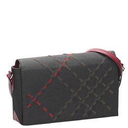 Burberry Black/Red Canvas Crossbody Bag 359262