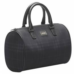 Burberry Black Coated Canvas Boston Bags 359252