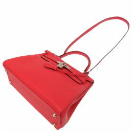 Hermes Red Leather Kelly 28 Bag 356665