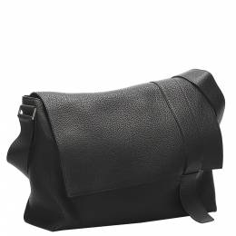 Hermes Black Leather Alfred Bag 358736