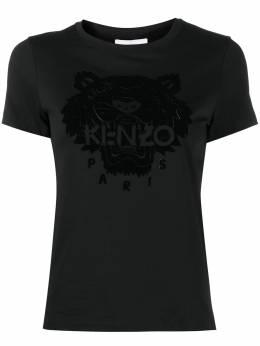 Kenzo футболка с узором Tiger FA62TS8464YJ