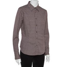 Etro Maroon Cotton Floral Print Full Sleeve Shirt L 362493