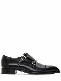 30mm Monk Strap Leather Shoes Tom Ford 73IY1E004-TkVS0