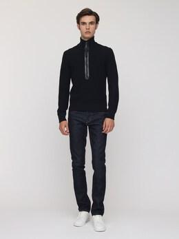 Wool Knit Half Zip Turtleneck Sweater Tom Ford 73IY1B034-QjE50