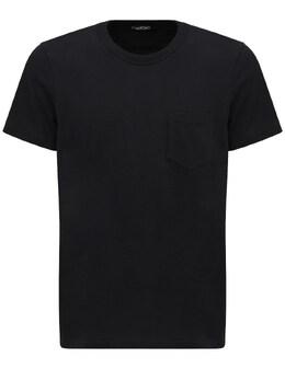 Marl Cotton Jersey T-shirt Tom Ford 73IY1B019-SzA50