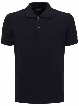 Garment Dyed Cotton Polo Tom Ford 73IY1B018-QjA50