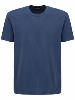 Tf Embroidery Lyocell & Cotton T-shirt Tom Ford 73IY1B015-QjE30