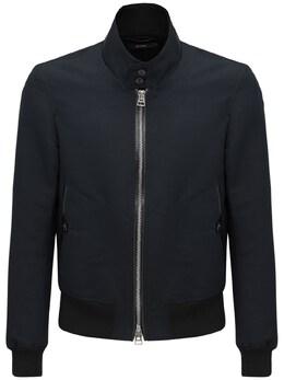 Harrington Cotton & Silk Shirt Jacket Tom Ford 73IY1B013-SzA50
