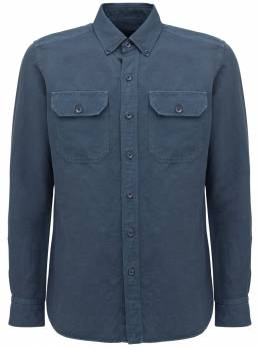 Garment Dyed Linen & Cotton Shirt Tom Ford 73IY1B011-QjA30