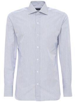 Striped Cotton Shirt Tom Ford 73IY1B003-QkxVRQ2