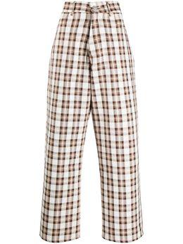 Ashley Williams клетчатые брюки широкого кроя с завышенной талией AWAW20104