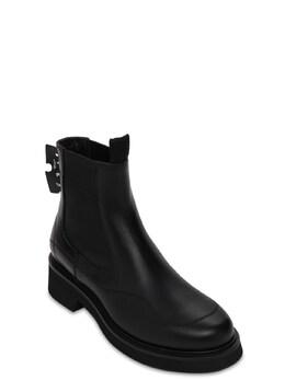 Кожаные Ботинки Челси 40mm Off-White 73ILOF008-MTAwMA2