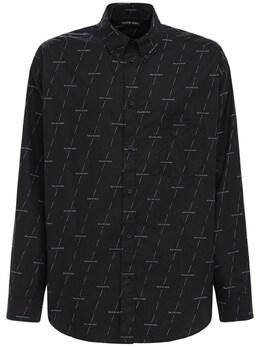 Рубашка Из Хлопка Balenciaga 73I18H002-MTI2OQ2