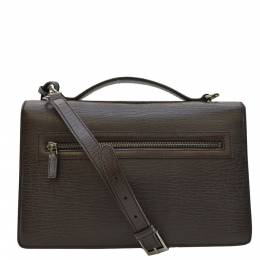 Gucci Brown Leather Top Handle Flap Briefcase Bag 361689