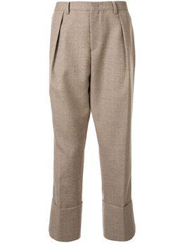 Wooyoungmi зауженные брюки с манжетами W201PT06CAMEL
