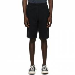 Sunspel Black Loopback Shorts MSHR1519
