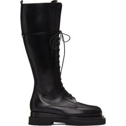 Magda Butrym Black Tall Combat Boots 507920