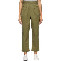 Maison Kitsune Khaki Work Trousers FW01121WW0027