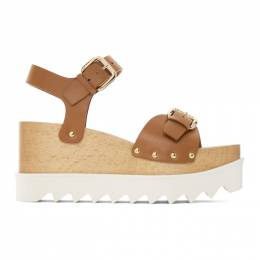 Stella McCartney Brown Faux-Leather Elyse Sandals 800317W1DX0