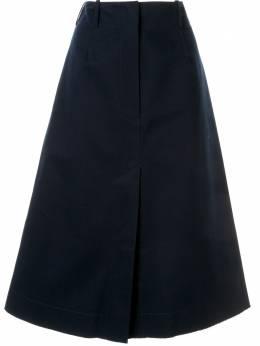 Cedric Charlier юбка с разрезом спереди A01038917