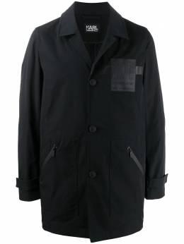 Karl Lagerfeld пальто с нашивкой Rue St-Guillaume KL200076690