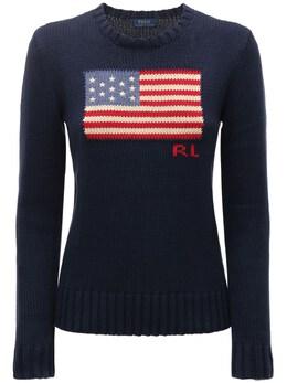 Хлопковый Свитер American Flag Polo Ralph Lauren 73IE50010-MDAx0