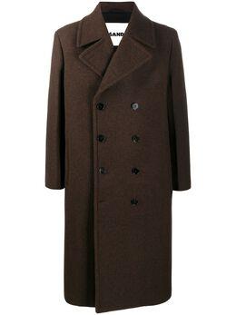 Jil Sander двубортное пальто JSMR105319MR200000