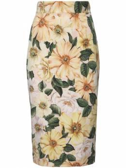 Юбка Из Шелка Стрейч Dolce&Gabbana 73I01Z027-SEYyQUg1