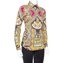 Etro Multicolor Paisley Print Stretch Cotton Shirt S 364985