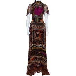 Etro Multicolor Printed Silk Maxi Dress M 359839