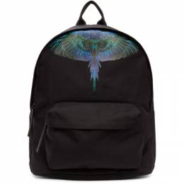 Marcelo Burlon County Of Milan Black and Blue Neon Wings Backpack CMNB006R21FAB0011069