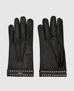 Черные кожаные перчатки Prada 2300003837930
