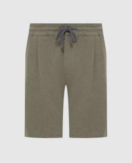 Зеленые шорты Brunello Cucinelli 2300006458910