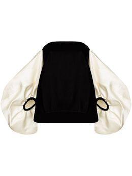 Rosie Assoulin бархатная блузка с открытыми плечами R204T16WR001ClassicVelvet